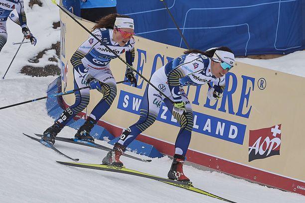 Charlotte Kalla ja Moa Lundgren eivät vielä tiedä ensi kauden maajoukkuekuvioitaan.