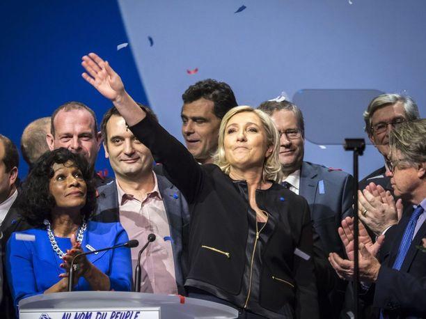 Marine Le Pen käynnisti kampanjansa viime viikonloppuna Lyonissa.