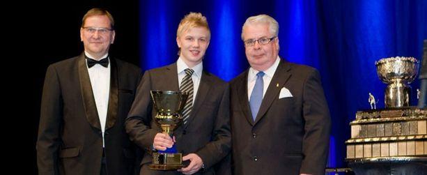 Toni Rajala voitti Kalen kannu -palkinnon vuonna 2009.