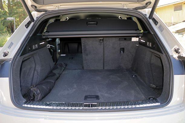 Audin tavaratila on kohtuullisen kokoinen ja lastaustila tasainen.