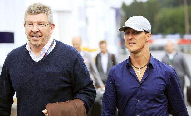 Ross Brawn ja Michael Schumacher ovat läheisiä ystäviä.
