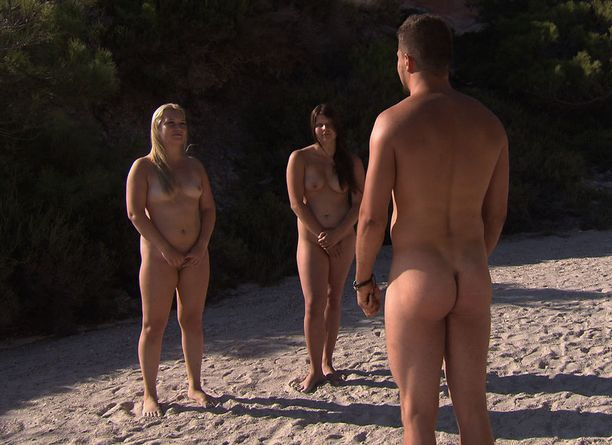 Hanna, 19, ja Antti, 24, saivat tutustua toisiinsa rauhassa ennen kuin Sari saapui saarelle.