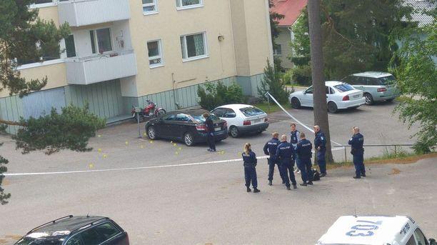 Lukijan lähettämä kuva Keravalla sattuneesta ammuskelusta.