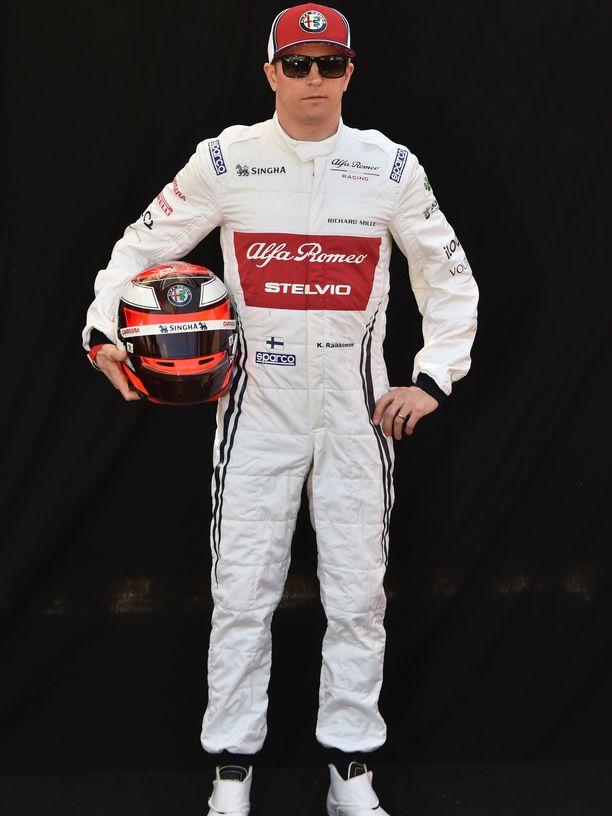 Kimi Räikkönen kuvattuna Australian Melbournessa 14. maaliskuuta 2019.