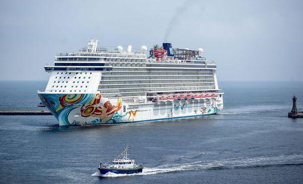 Norwegian Cruise Linen alus. Kuvituskuva.