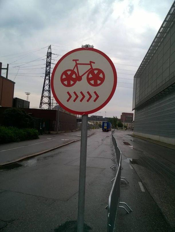 Tämä merkki ei saanut olla paikoillaan pitkään.