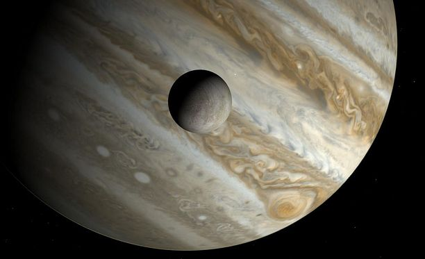 Europa on Jupiterin neljästä suuresta kuusta pienin, kooltaan kuin pieni planeetta.