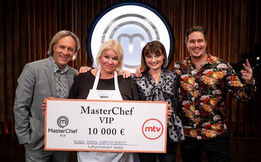 Minna Kuukka voitti MasterChef VIP:n – lahjoitti voittorahat syöpätutkimukseen