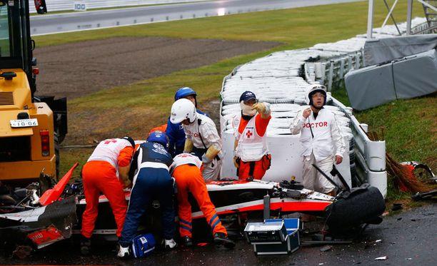 Jules Bianchi loukkaantui vakavasta viime lokakuussa Suzukassa.