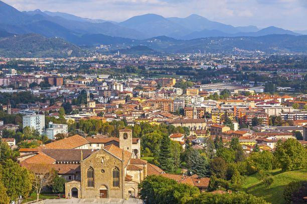 Bergamon maakunta on Italian pahiten koronaviruksesta kärsinyt alue. Kuvituskuva.