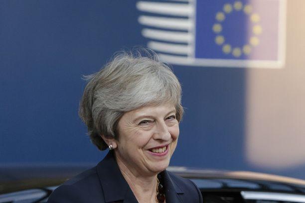 Ison-Britannian pääministeri Theresa May. Kuvituskuvaa. EPA
