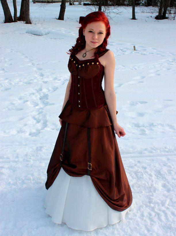 Saran mekko on steampunk-tyyliä.