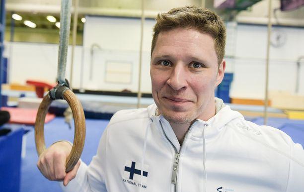 Jani Tanskanen on entinen voimistelija.
