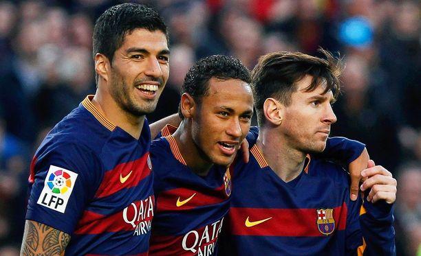 MSN-kolmikko, Luis Suárez, Neymar, Leo Messi, onnistui hyvin Real Sociedad -ottelussa.