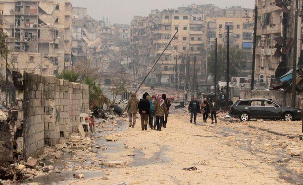 Al-Mashadin kaupunginosassa oli hetkittäin rauhallista keskiviikkona.