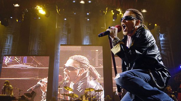 Guns'N'Roses esiintyy lauantaina Helsingissä.