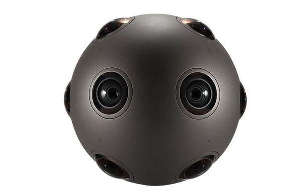 Pyöreässä OZO-kamerassa on kahdeksan objektiivia ja mikrofonia.