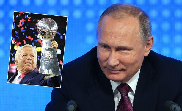 Tarina miljardööri Robert Kraftista, presidentti Vladimir Putinista ja Super Bowl -sormuksesta sai taas uuden luvun.