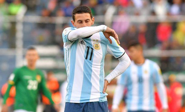 Angel di Maria poti Argentiinan tappiota.