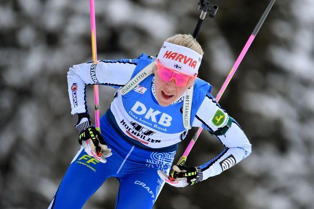 Kaisa Mäkäräinen on ollut tällä kaudella maailmancupissa parhaimmillaan neljäs.