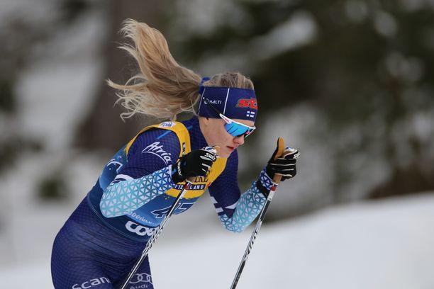 Vilma Nissiselle jäi karvas maku suuhun Toblachin kisoista Tour de Skillä.