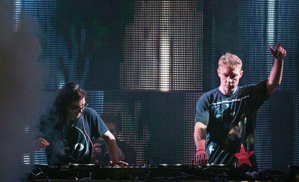 Skrillex ja Major Lazer -kokoonpanon jäsen, dj Diplo keikkailevat ahkerasti yhdessä.