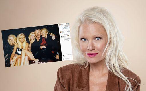Linda Lampenius hymyilee kuvassa Hugh Hefnerin kainalossa – ikävöi Playboy-aikojaan