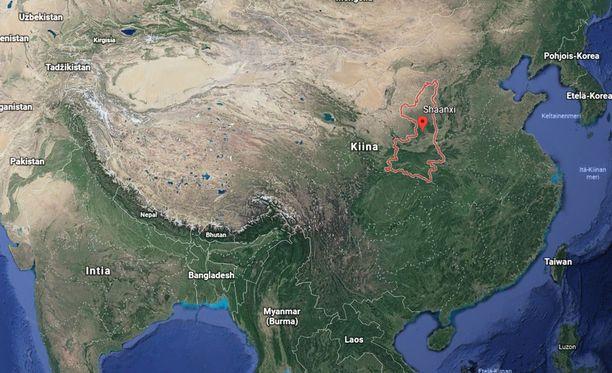 Mies hyökkäsi kouluun Shaanxin provinssissa Kiinassa.