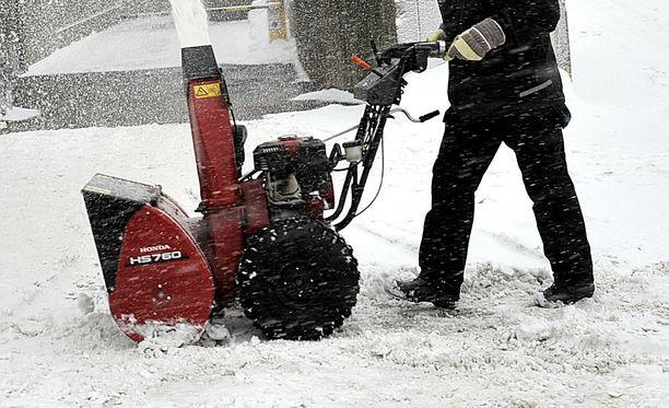 Lumilinko aiheutti loukkaantumisen Kotkassa. Kuvituskuva.