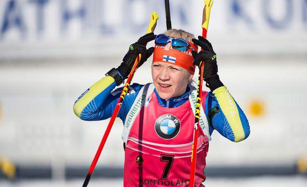 Kaisa Mäkäräinen ylsi parinsa Olli Hiidensalon kanssa kuudenneksi.