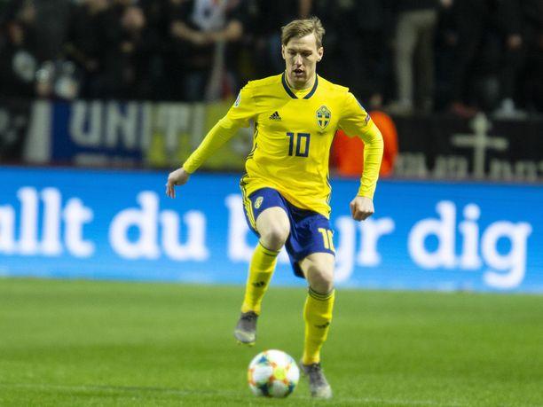Emil Forsberg jätti Ruotsin maajoukkueen Romania-pelin jälkeen.