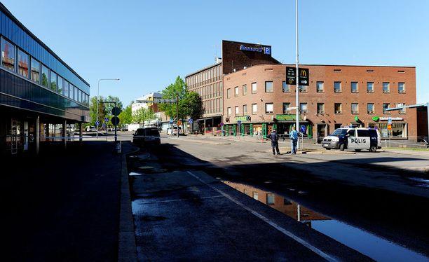 Eero Hiltunen murhasi kaksi ihmistä tällä paikalla toukokuussa 2012.