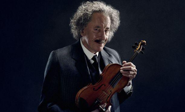 Geniuksesta on tulossa toinenkin kausi. Kuvassa Geoffrey Rush Einsteinina.