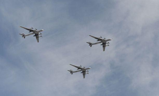 Yhdysvaltain ilmatilaa lähestyi lauantaina neljä venäläistä Tupolev Tu-95-konetta.