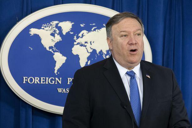 Yhdysvaltain ulkoministeri Mike Pompeo haluaa EU:n asettavan Iranille pakotteita.