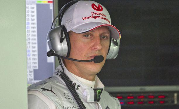 Michael Schumacher ajoi Mersulla juuri ennen menestysvuosia.