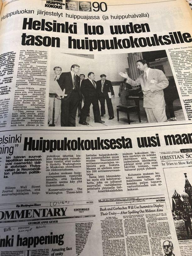 Petri Tuomi-Nikula kertoi päivää ennen Bushin ja Gorbatsovin tapaamista, että järjestelyt ovat hyvällä mallilla kiireestä huolimatta.