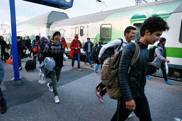 Suomeen pakolaisia on virrannut erityisesti länsirajan kautta.