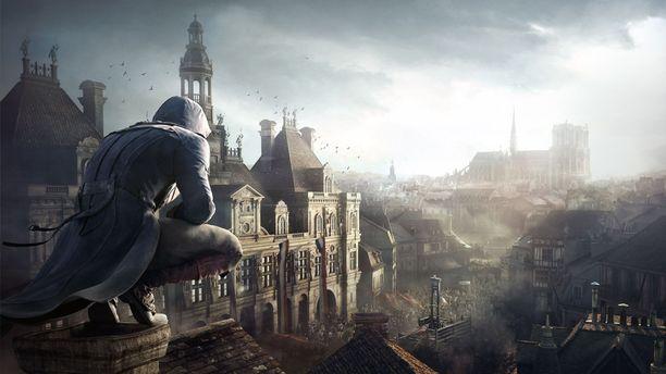 Kaukaisuudessa näkyvä Notre Dame oli yksi Assassin's Creed Unity -pelin tapahtumapaikoista.
