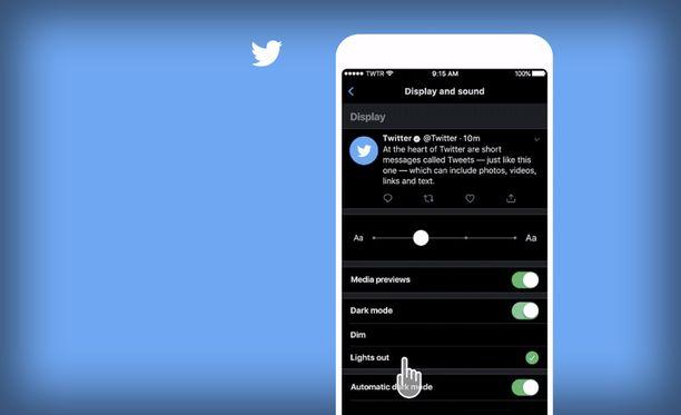 Twitter toi mustan yötilan IOS-sovellukseensa.