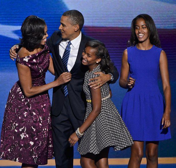 Sasha ja Malia Obama olivat vielä pikkutyttöjä perheen muutettua Valkoiseen taloon kahdeksan vuotta sitten.