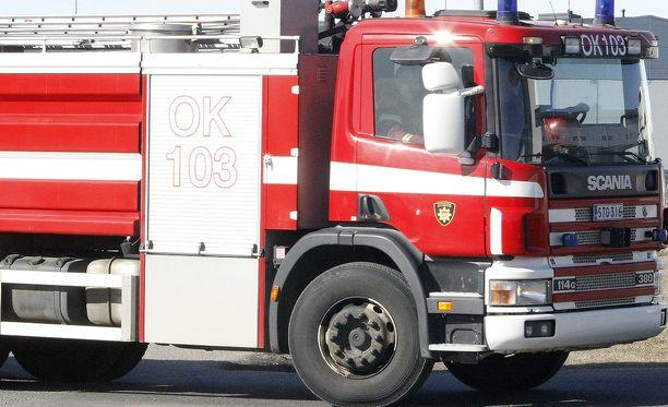 Palokunta riensi paikalle turhaan Vaasassa. Kuva ei liity tapaukseen.