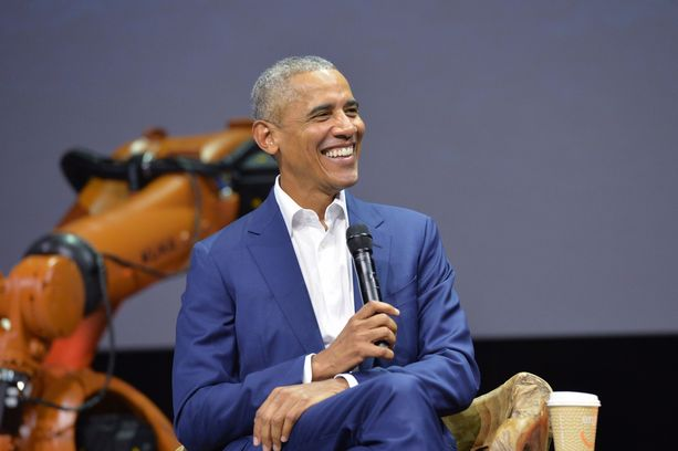 Obama esiintyi Helsingissä rennosti.