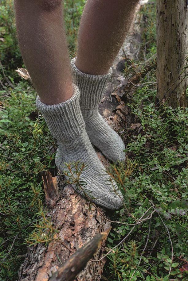 Kekkosen paksuissa hiihtosukissa eivät jalat palele, vaikka pakkasta olisi paljonkin.