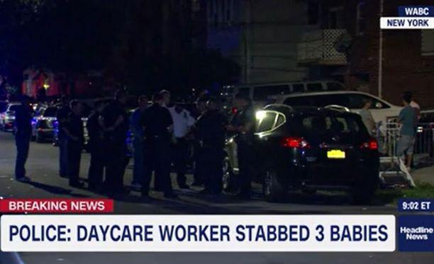 Epäilty on otettu kiinni ja viety sairaalaan.