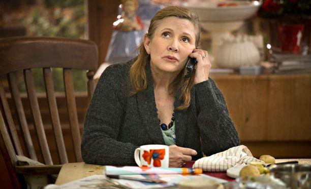 Tämän kuvan kera Catastrophen tekijät omistavat illan viimeisen jakson Carrien muistolle.