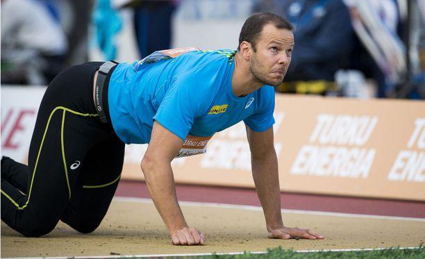 Tero Pitkämäki on Suomen ainoa 80 metrin mies tällä kaudella.