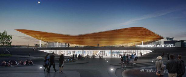 Helsinki-Vantaalle nousee uusi, massiivinen rakennus.