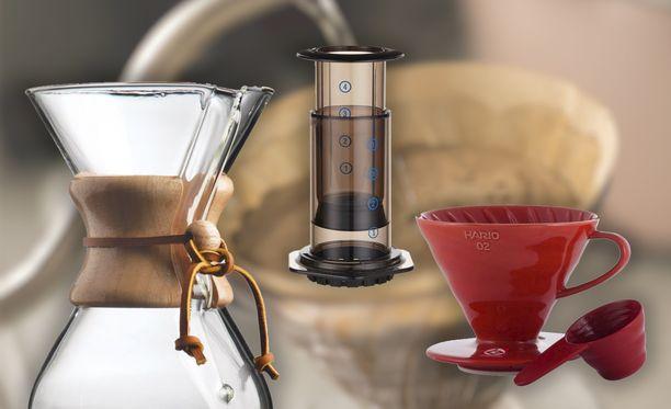 Kahvia voi valmistaa mullakin kuin perinteisellä keittimellä.