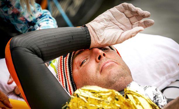 Maarten van der Weijden keskeytti 163 kilometrin jälkeen.